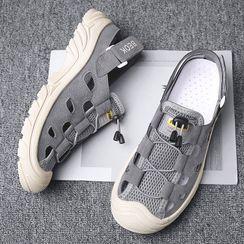 JACIN - Mesh Panel Platform Sandals