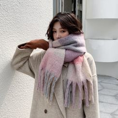 Frior - 格子流苏围巾