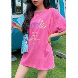 chuu - 'Barbie California Summer' Letter T-Shirt