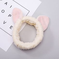 Livesmart - Animal Earring Chenille Face Wash Headband