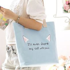 Canvas Love - Lettering Canvas Tote Bag
