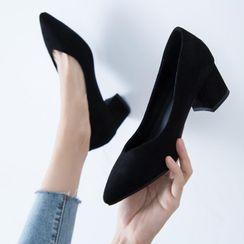 JY Shoes - Chunky Heel Pumps
