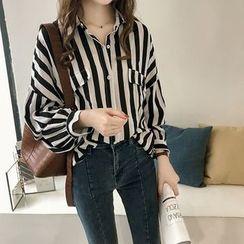 Lumierii - Long-Sleeve Striped Shirt