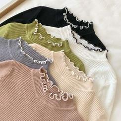 Fabricino - 仿高領針織上衣