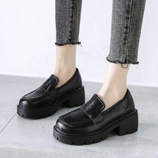 Moonwalk(ムーンウォーク) - Faux Leather Platform Loafers