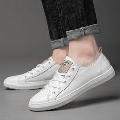 MARTUCCI - Genuine Leather Lace Up Sneakers