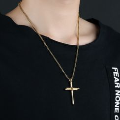 Tenri - Stainless Steel Cross Pendant Necklace