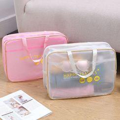 Evorest Bags - Printed PVC Wet Dry Makeup Bag