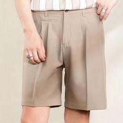 Orizzon - Plain Straight-Cut Shorts