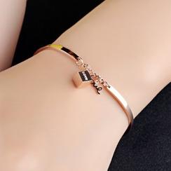 Creole - Cube Accent Bracelet