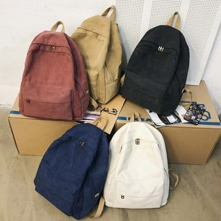 MUSIS - Plain Canvas Backpack
