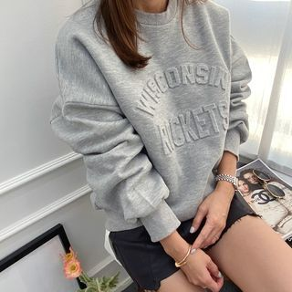 DANI LOVE - Round-Neck Textured Sweatshirt