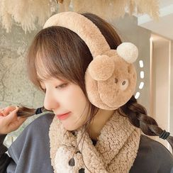 Yunikon - 毛绒熊耳朵耳罩