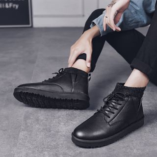 Bendion - Lace-Up Short Boots