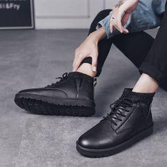 Bendion - Lace-Up Short Boots