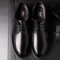 Ashiato - Genuine Leather Lace Up Dress Shoes