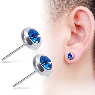 Prushia - Rhinestone Stainless Steel Earring