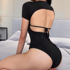 Eunostos - 短袖露背连体衣