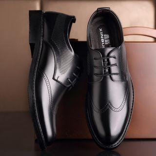 Ashiato - Genuine Leather Lace Up Dress Shoes