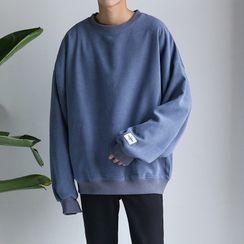 YAVER - Couple Matching Patched Sweatshirt