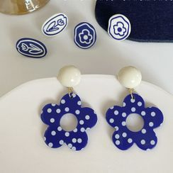 Admae - Floral Earring / Clip-On Earring (Various Designs)