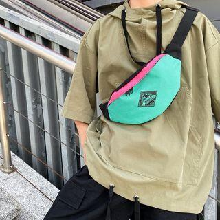 Mulgam - Color Panel Canvas Sling Bag