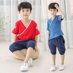 SEE SAW - 小童套裝: 短袖上衣 + 短褲