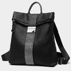 AIDO - Genuine Leather Croc Grain Backpack