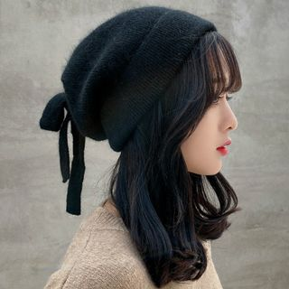 FROME - Bow-Accent Knit Beanie