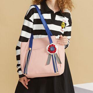 Nibby - Applique Nylon Tote Bag