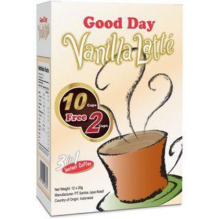 Three O'Clock - Good Day Indonesian 3in1 Instant Coffee Vanilla Latte 20g x12