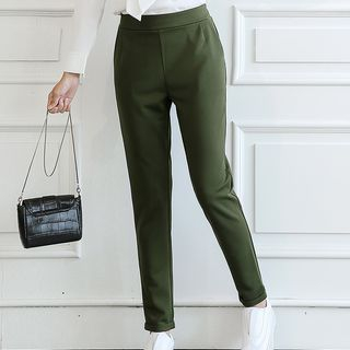 Q.C.T - Elastic Waist Slim Fit Pants