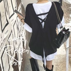 DEEPNY(ディープニー) - Lace-Up Sweater Vest