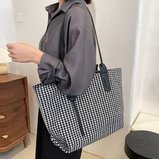 Road to Love - Houndstooth Tote Bag