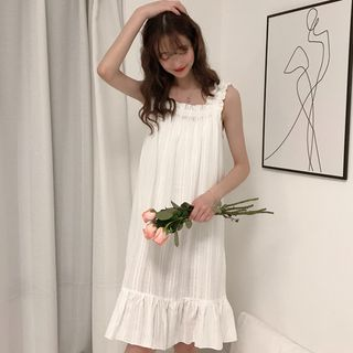 Hasna - Sleeveless Ruffle Pajama Dress