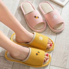 Cool Cocoon - Couple Matching Embroidered Slippers