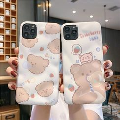 Zone Zero - Bear Print Mobile Case - iPhone 11 Pro Max / 11 Pro / 11 / XS Max / XS / XR / X / 8 / 8 Plus / 7 / 7 Plus / 6s / 6s Plus