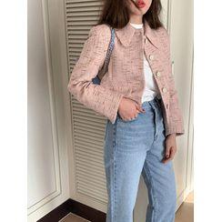 maybe-baby(メイビ―ベイビー) - Collared Tweed Jacket