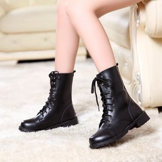 Weiya - Genuine Leather Short Boots