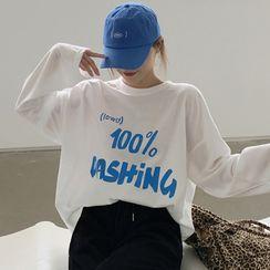 Tonni's - Lettering Long-Sleeve T-Shirt