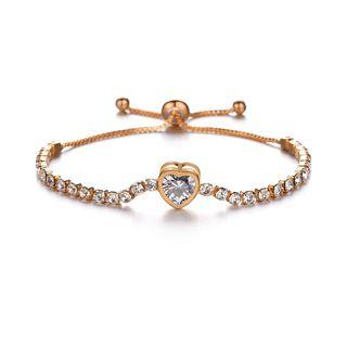 Terreau Kathy - Rhinestone Heart Bracelet
