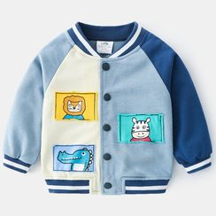 Seashells Kids - Kids Applique Baseball Jacket