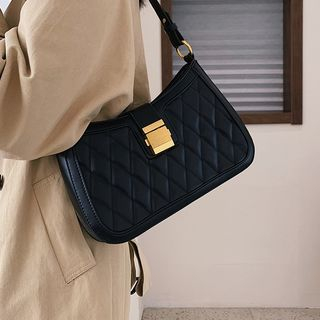 NewTown - Faux Leather Quilted Shoulder Bag