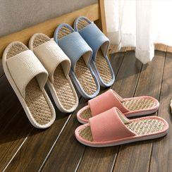EMERY.V - Straw Home Slippers