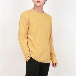 Smallman - Round-Neck Textured T-Shirt
