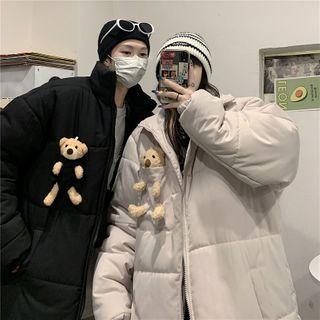 2DAWGS - Couple Matching Bear Padded Zip Jacket
