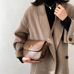 Kunado - Plain Flap Crossbody Bag