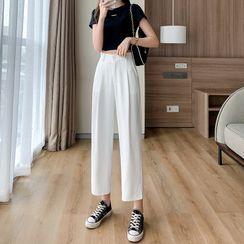 Luminato - Cropped Wide Leg Dress Pants