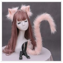 Kentekky - 仿毛小猫耳朵头带 / 尾巴饰物 / 套装