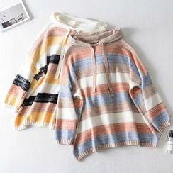 Vilakak - Striped Knit Hoodie